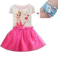Girl Dresses Summer Kid Clothes <b>Princess Anna Elsa</b> Dress Snow ...