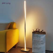 <b>Nordic LED</b> Floor Lamps Modern <b>Metal Aluminum</b> Shadeless ...
