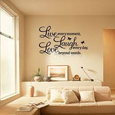 diy quote words wall stickers decal live every moment art mural sticker wall sticker for home amazing wall quotes office