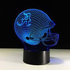 2019 <b>Football</b> Birthday Gifts <b>3D</b> LED <b>Night Light</b> Changing Building ...