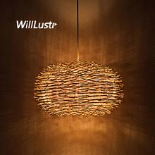 Online Shop Modern Bamboo Cage <b>Pendant Light Wood</b> ...