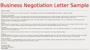 business negotiation letter sample negotiation definition business agreement sample letter