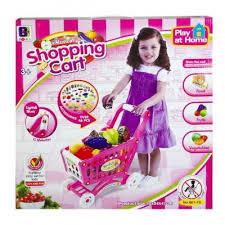 <b>Игровой набор Shantou Gepai</b> Тележка для покупок с продуктами ...