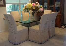 dining chair arms slipcovers: six dining room chairs slipcovered with a moire fabric and trimmed with tabs and buttons