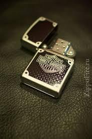 Zippo <b>Satin Chrome</b> Harley Davidson Carbon Fiber (с ...