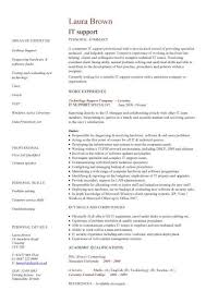 it support cv template resume it template