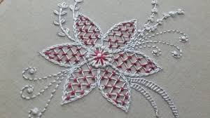 Hand embroidery of a <b>flower pattern</b> with net stitch - YouTube