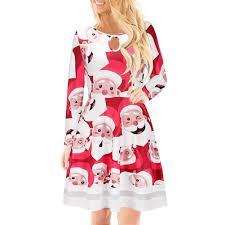 PJHOT Women's Ugly <b>Christmas Santa Print</b>- Buy Online in ...