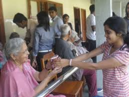 visit to holy spirit old age home by humanities club  t john college humanities