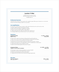 painters resume template     free word  pdf documents download    professional painter resume template