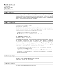 Sample Resume Sales Associate Resume For Your Job Application