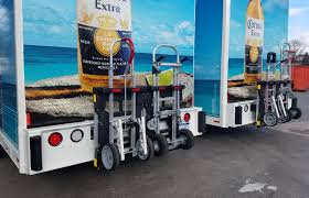 b p manufacturing s commercial hand trucks locked safely and b p manufacturing s commercial hand trucks locked safely and quickly aboard mickey truck bodies side loader