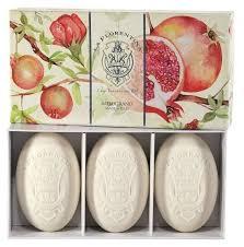 Купить <b>Мыло</b> кусковое La Florentina <b>Pomegranate</b>, <b>150 г</b>, 3 шт. по ...