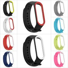 Dual Color <b>Silicone Replacement Wristband</b> Watch Band Strap For ...
