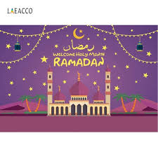 <b>Laeacco</b> Muslim Backdrops Ramadan Kareem Cartoon <b>Moon</b> Star ...