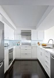 size kitchen desaignlavish modern apartment renovation anne hepfer designs contemporary u shaped kitchen design with white sh