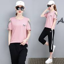 <b>3XL Tracksuit Women Sports</b> Suits 2019 Summer Casual Short ...