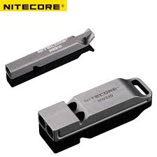 <b>Nitecore NWS10</b> NWS20 <b>Titanium</b> Emergency Whistle Necklace ...