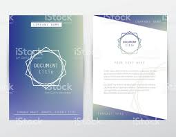 hipster style corporate identity brochure cover and letterhead hipster style corporate identity brochure cover and letterhead document template royalty stock vector art