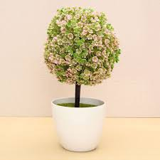 aliexpresscom buy artificial topiary tree ball plant flowers buxus plants in pot indoor fake bonsai for garden home wedding event mini decor from artificial topiary tree ball plants pot garden