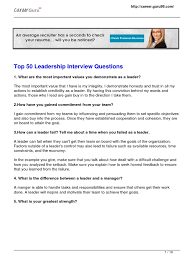 top leadership interview questions