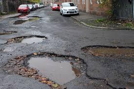 Risultati immagini per road with potholes