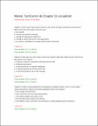 ch15 quiz markel techcomm 8e chapter 15 completed total score this preview has intentionally blurred sections sign up to view the full version