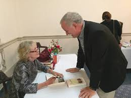 author lee smith s barton college the wilson times acclaimed n c author lee smith signs a book for tom hackney tuesday night at barton college