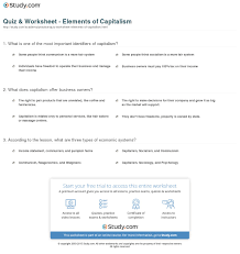 capitalism worksheet delibertad comparing economic systems worksheet capitalism vs communism quiz worksheet elements of capitalism study com