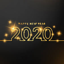 Happy new year with gold lines Vector | Free Download