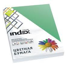 "<b>Бумага цветная</b> ""<b>INDEX COLOR</b>"" А4 изумрудно-зеленая, 100 ..."