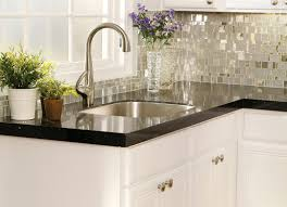 Kitchen Backsplash Kitchen White Kitchen Design Ideas Using Mirrored Glass Backsplash