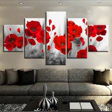 Canvas Printed Pictures Living Room <b>Wall Art Framework 5</b> Pieces ...