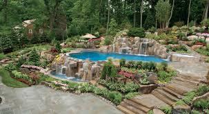 small backyard pool waplag best amazing natural infinity edge swimming and corner waterfalls exterior photo office backyard home office build