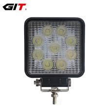 China Auto Lamp <b>4inch 27W Square</b>/Round LED Car Work Light ...