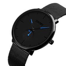 <b>skmei</b> 9185 simple casual style mesh steel <b>men quartz watch</b> at ...