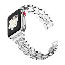 Wearlizer Silver Womens Compatible with Apple <b>Watch Band</b> 42mm ...