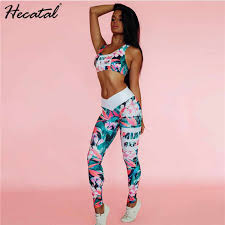 <b>Hecatal 2019</b> Tie Dye Gradient Women Sports Set For Fitness ...
