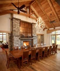 long wood dining table: very cozy traditional dining room with wooden ceiling wooden table and matching chairs