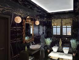 bathroom decor ideas unique decorating: luxurious bathroom decorating in black and golden colors