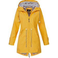 <b>2019 spring</b> and <b>autumn Women's</b> Solid Rain Jacket Outdoor ...