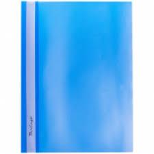 <b>Папка</b>-<b>скоросшиватель</b> пластик А4 <b>BERLINGO</b> 0,18мм синяя