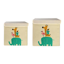 2019 <b>Large Capacity Foldable</b> Storage Box <b>Cartoon</b> Canvas Cube ...