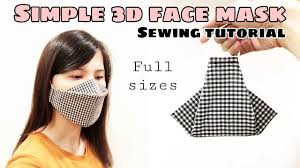[Super FAST & EASY] Simple <b>3D Face Mask</b> Sewing Tutorial | Full ...