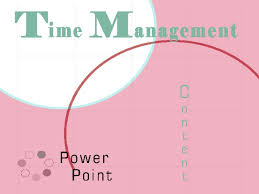 TIME MANAGEMENT POWERPOINT SlideShare