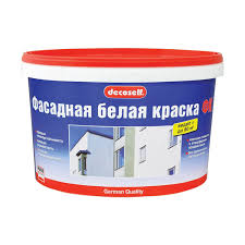 Краска в/д фасадная белая Decoself мороз (<b>10</b> л=15,8 кг) купить ...