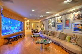 basement rec room ideas for all family members awesome decorative fish tank home remodeling modern awesome family room lighting ideas