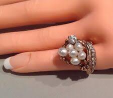 <b>Кольцо</b> с бриллиантом <b>4</b> мелкий <b>жемчуг кольца</b> - огромный ...
