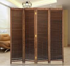 oriental japanese style 4 panel wood folding screen room divider home decor decorative portable asian cheap asian furniture