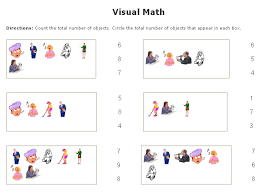 Visual Math Worksheets Maker Sample- Counting Multiple Choice... math worksheets for young learners. This tool is helpful for early elementary students as well as upper elementary students in need of remediation.